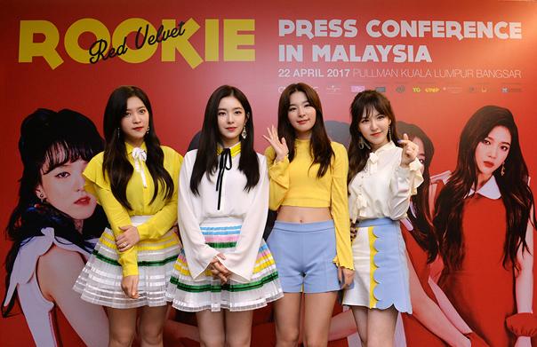 대세 걸그룹 레드벨벳, 말레이시아 첫 프로모션 성황!