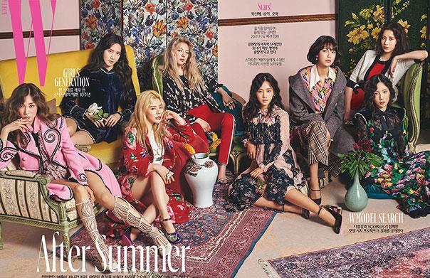 '데뷔 10주년' 소녀시대, 패션 매거진 〈더블유 코리아〉8월호 스페셜 커버 장식!