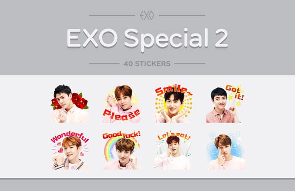 EXO LINE Stickers 출시!